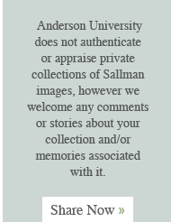 Anderson University does not authentic or appraise private collections of Sallman images, however we welcome any comments or stories about your collection and/or memories associated with it.  Share Now »